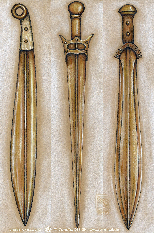 GREEK BRONZE SWORDS