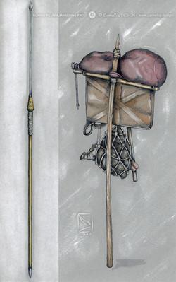 ROMAN PILUM & MARCHING PACK