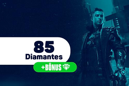 Free Fire - 85 Diamantes + Bônus