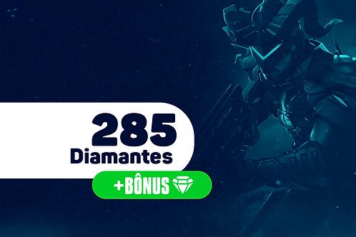 Free Fire - 285 Diamantes + Bônus