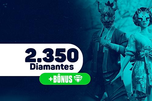 Free Fire - 2.350 Diamantes + Bônus