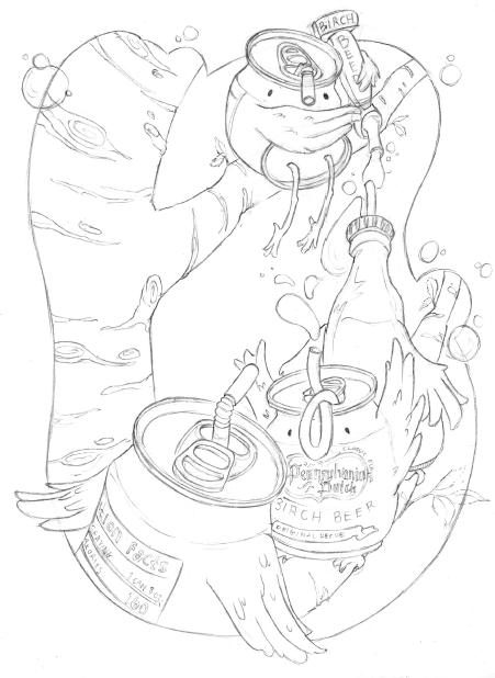 Illustration Process - Final line drawing