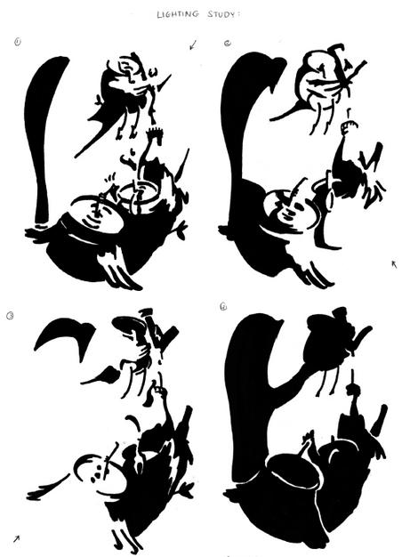 Illustration Process - Lighting Studies