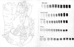 Illustration Process - media values