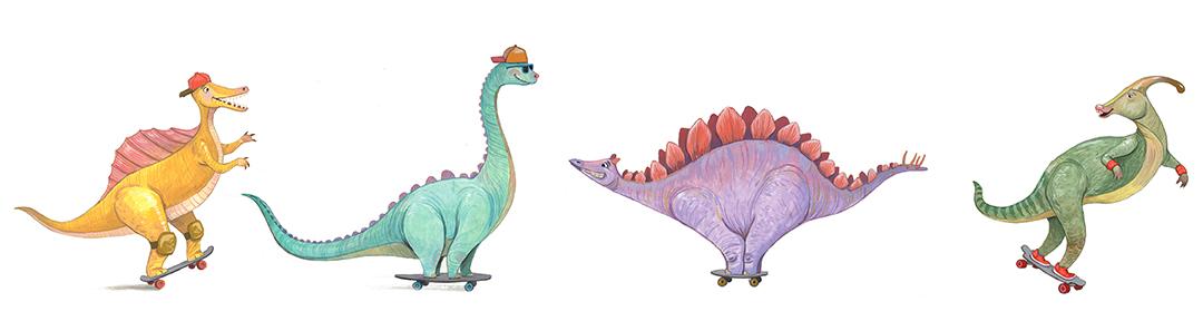 Dinoskater Lineup