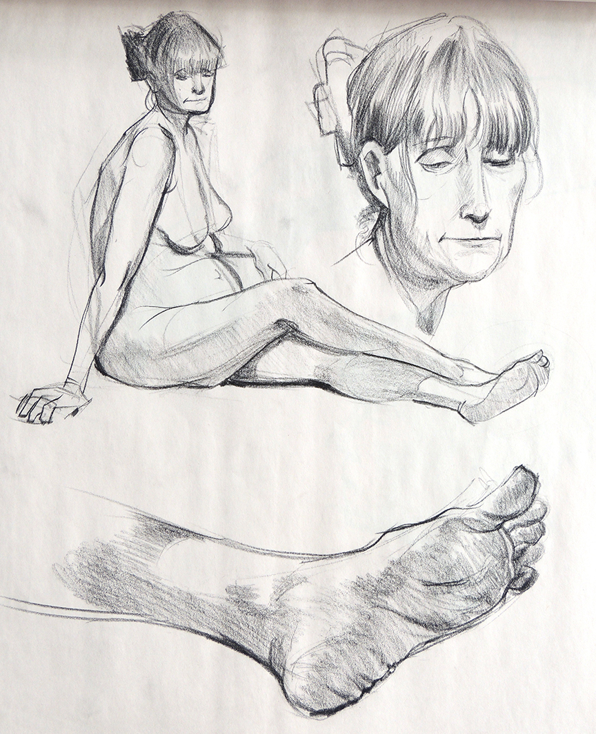 Female Study Head Hands Feet