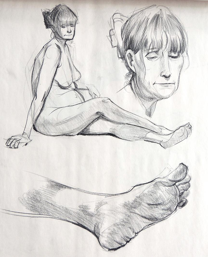 Female Study Head Hands Feet