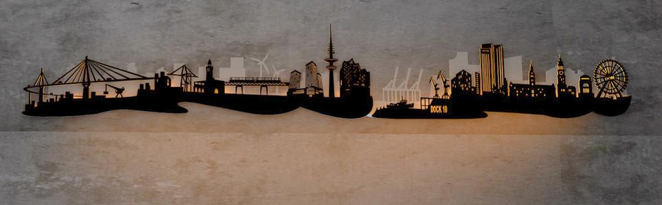 LED Hamburg Skyline