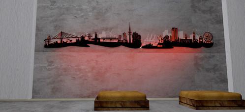 Hamburg LED Skyline
