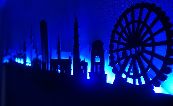 LED Hamburg Skyline