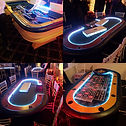 Light up casino party tables