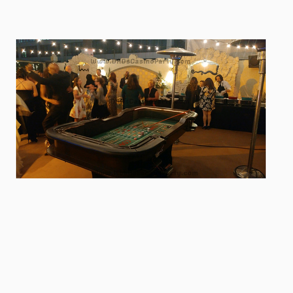 Craps game for your next casino night party rentals in 2019
