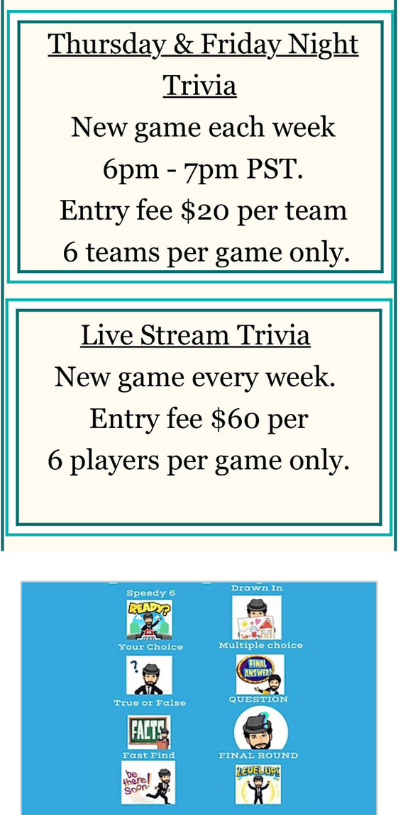 Live Streaming Trivia Now Booking