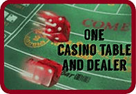 One Casino table packages with dealer for 4 hours from DADs casio party rentals