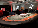Deluxe card table for casino night rentals