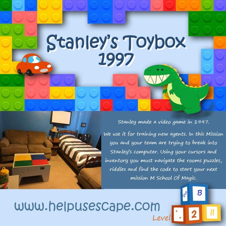 Level 2 Stanleys Toy Box 1997 Online escape room Point and Click