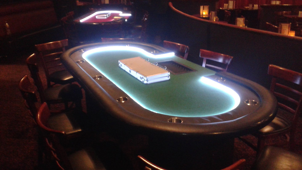 Five Card Tables, One Roulette & Dealers