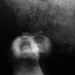 Scream of horror. Screaming woman face.