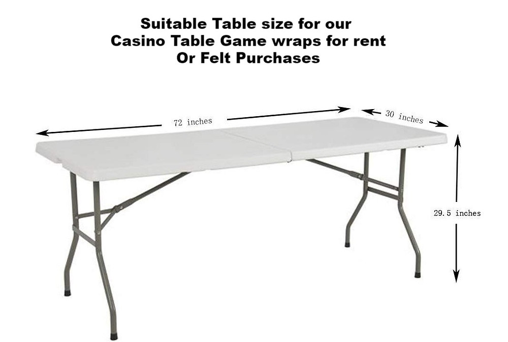 Casino wraps that fit any 6ft table