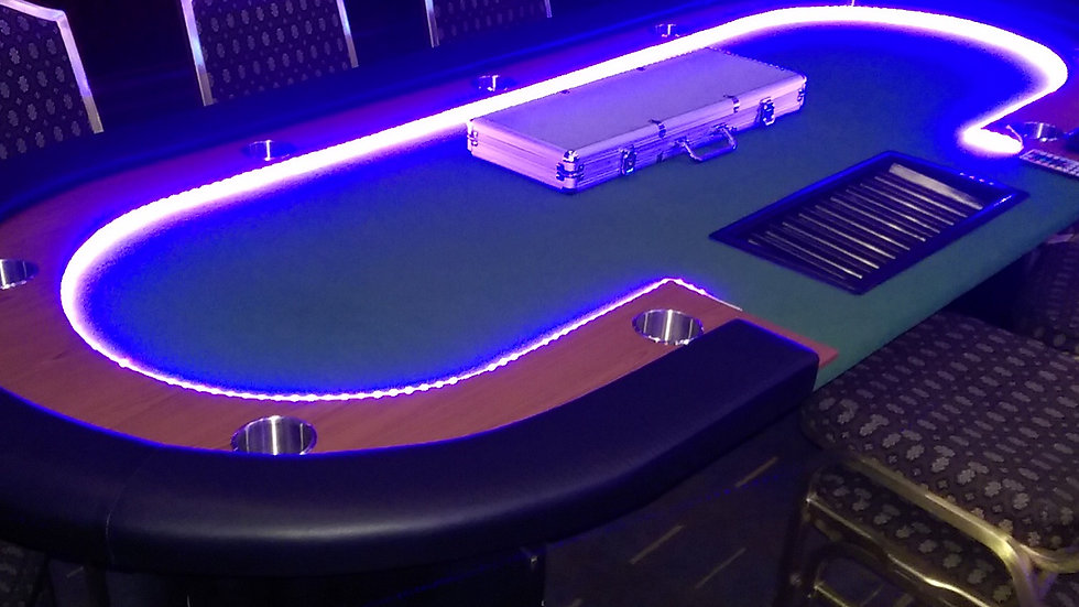 Seven Card Tables, One Roulette & Dealers