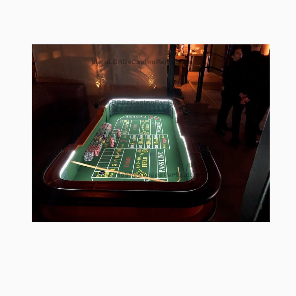 Light up your casino night with our LED craps tables