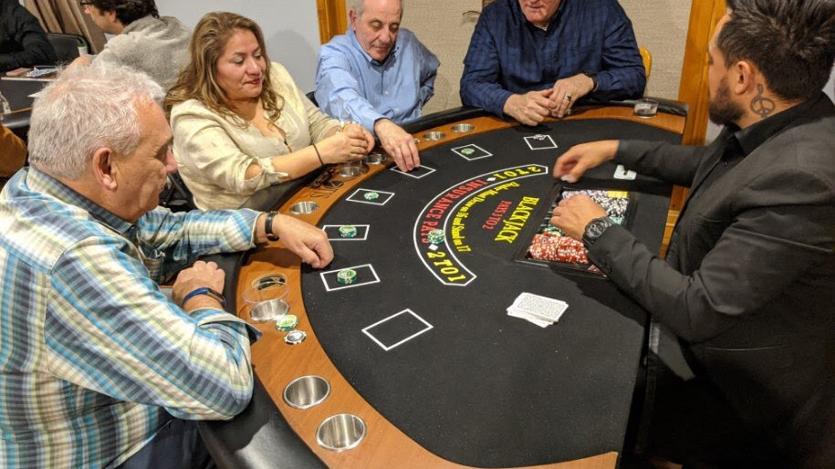 One Blackjack Table Rental      Deposit