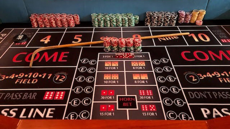 One Craps Table Rental    Deposit