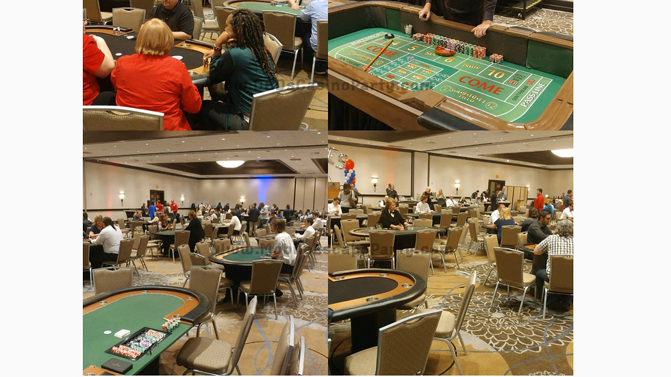 Four Card Tables, One Roulette & Dealers