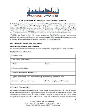 Charge to Work New York Incentives