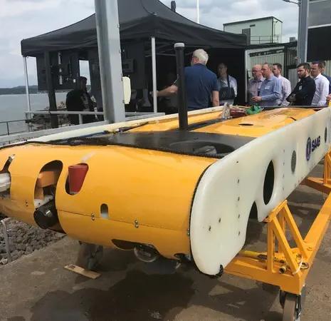 Seaspace Race Underway at Saab Subsea Docking Demo