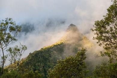Vue de la brume depuis le gite des Cascades