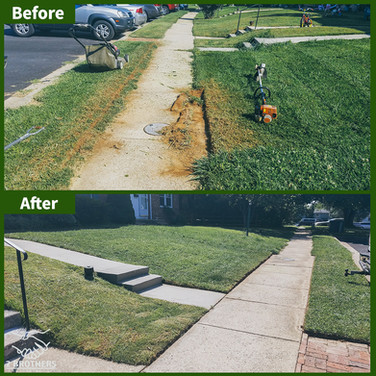 grass edging before and after