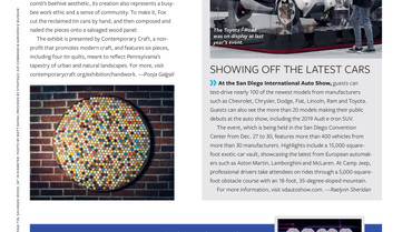 Contemporary Craft exhibition featured in Alaska Airline Magazine