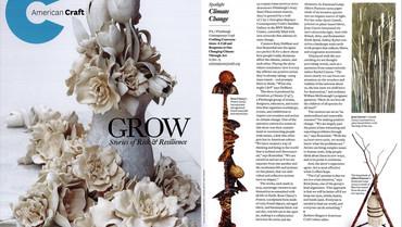 Contemporary Craft exhibition featured in American Craft Magazine