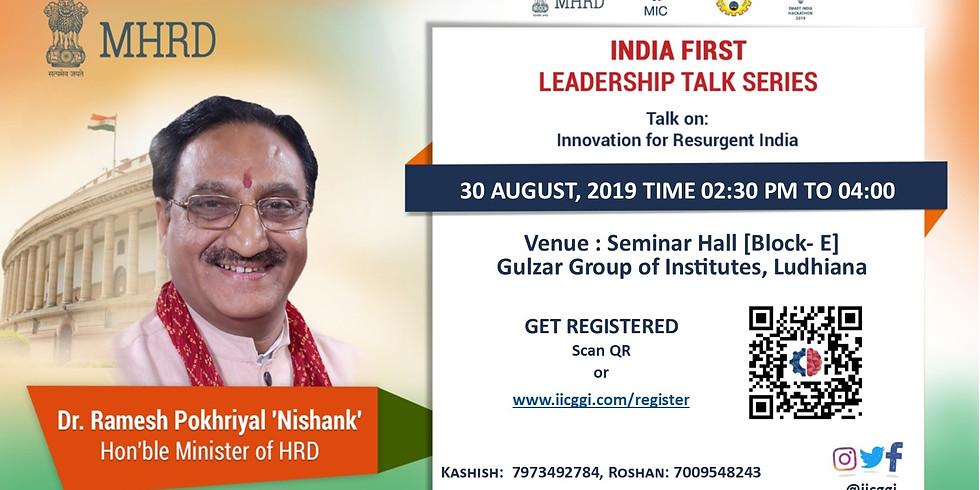 India's First Leadership Talk Series