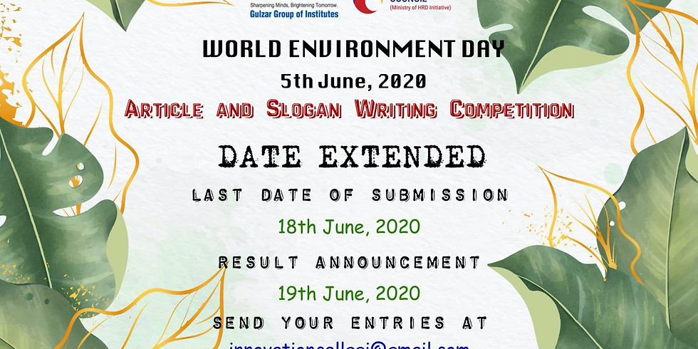 World Environment Day-2020 Awareness Campaign  (1)