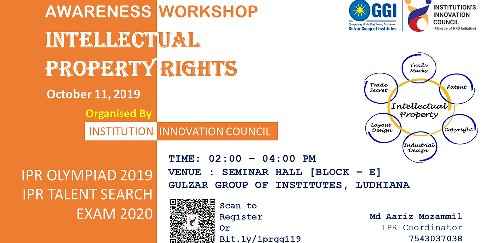 Awareness Intellectual Property Talent Search Examination 2020 & IPR Olympiad 2019