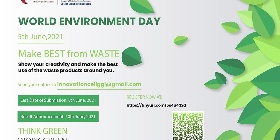 Environment Day -2021 Best Out of Waste Competition by IIC GGI Ludhiana