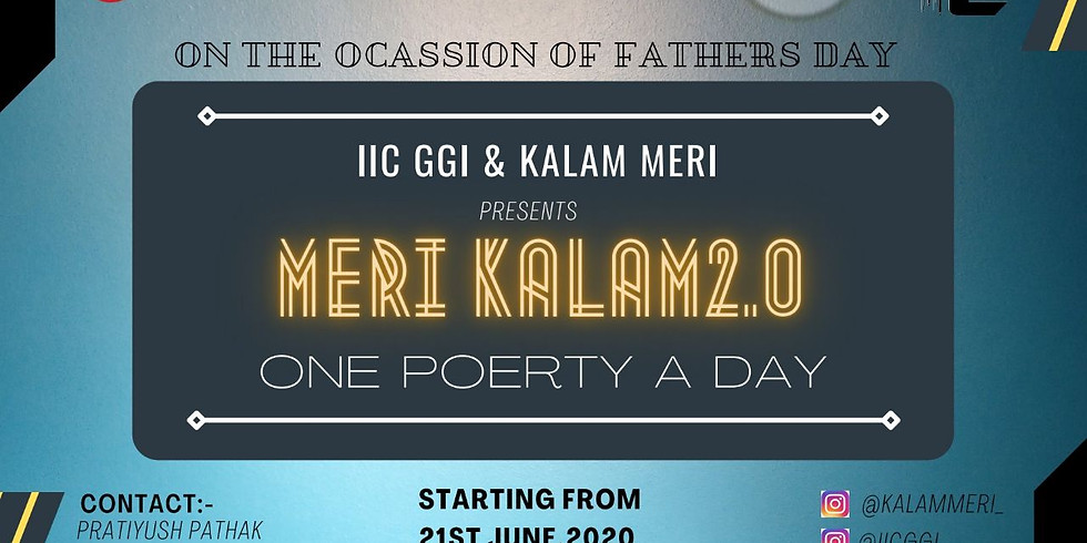 MERI KALAM 2.0 - 2021  ONE POETRY A DAY Campaign