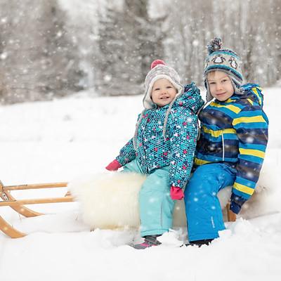 Familienshooting im Schnee