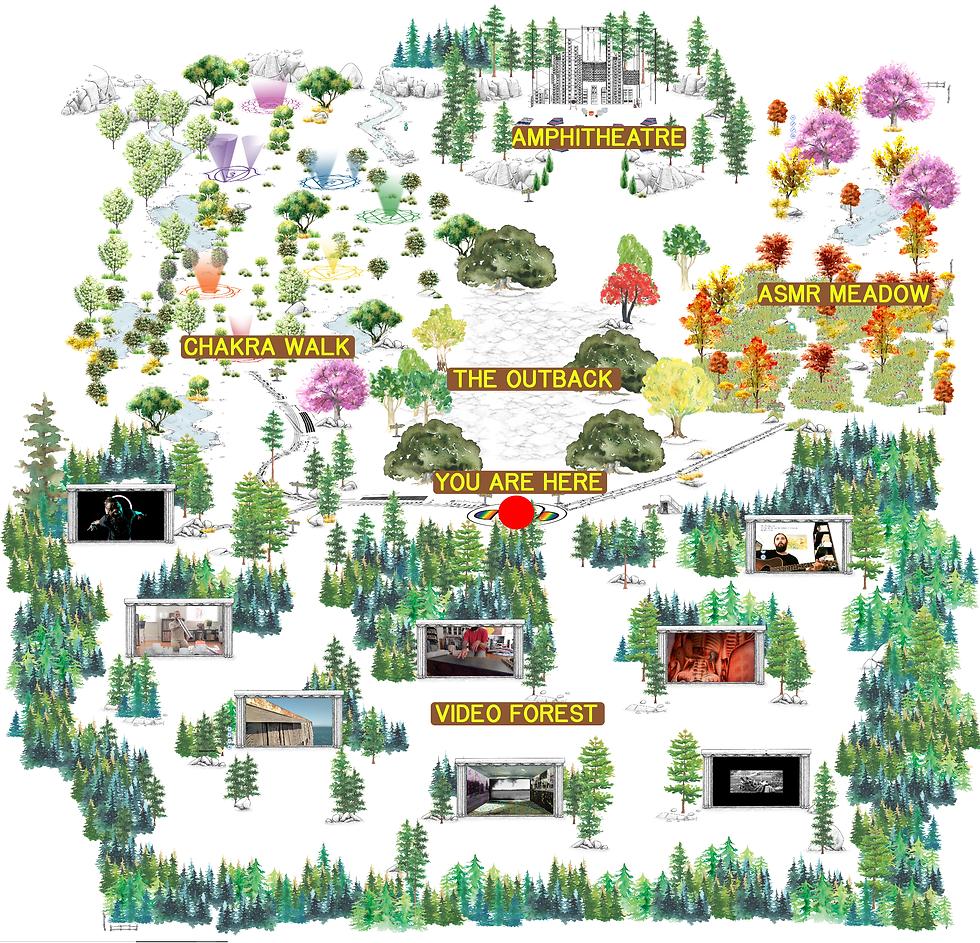 A site map of Sögu Music Topia