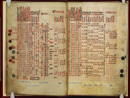 How to read a medieval astronomical calendar