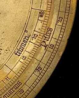 Astrolabe calendar