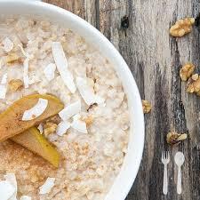 Poached Pear Porridge