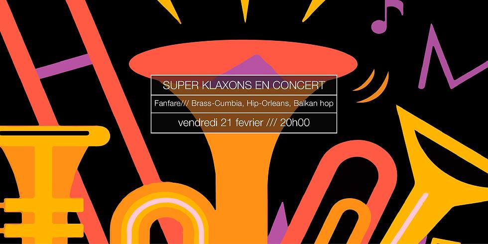 Super Klaxons en concert