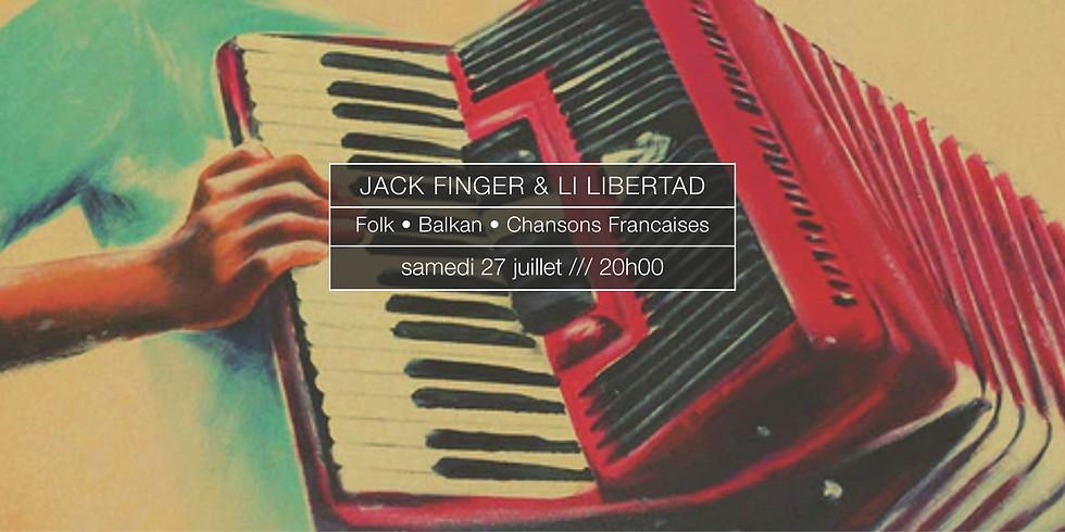 Jack Finger & Li Libertad en concert