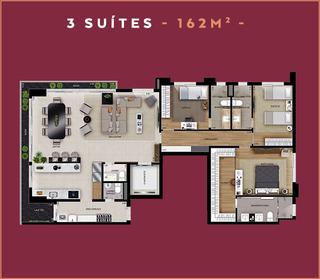 3 Suítes - 162m²