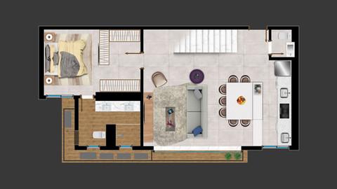 Duplex Piso Inferior - 118m²