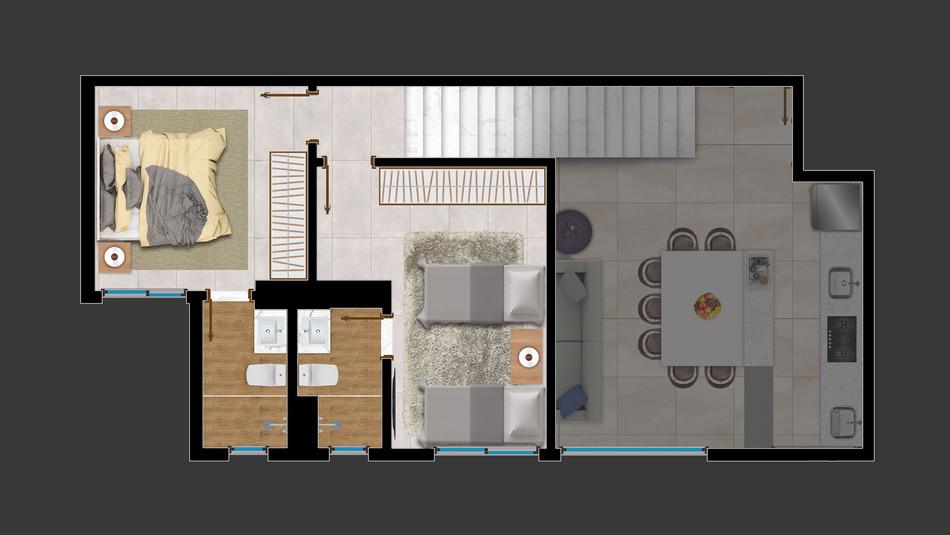 Duplex Piso Superior - 118m²