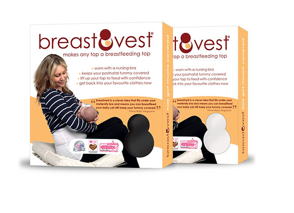 breastvest breastfeeding vest essential black and white duo